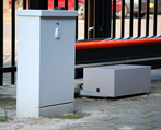 Security fence operating enclosures